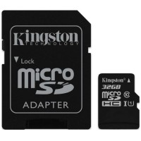 Карта памяти KINGSTON microSDHC UHS-I 45R 32GB class 10 + SD adapter